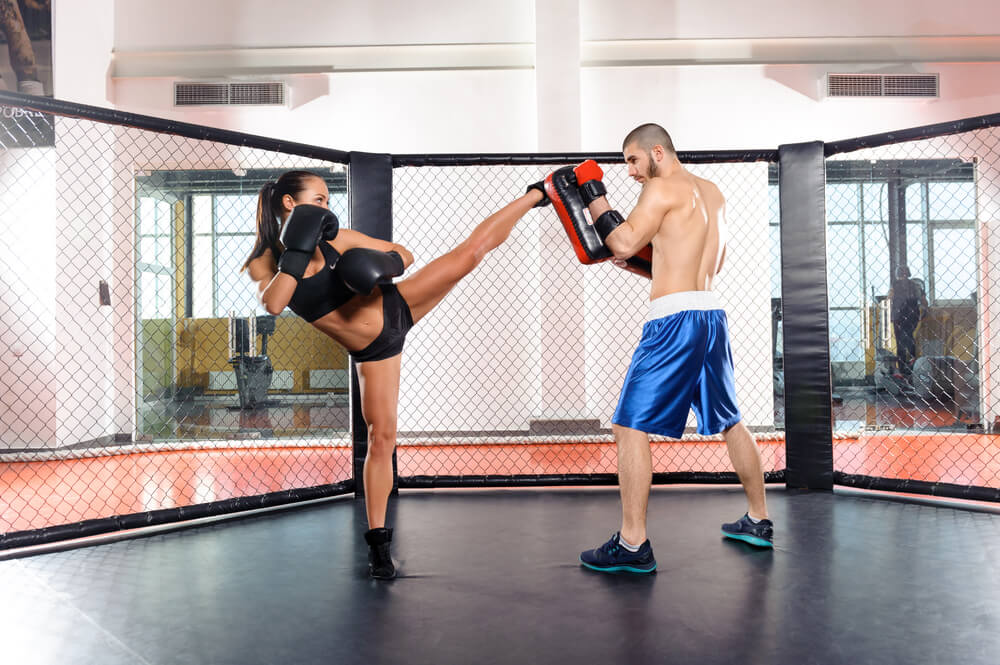 partners training together mma